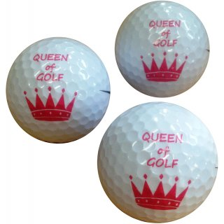 Golfballset QUEEN OF GOLF,3 Marken Golfbälle mit Druck by CEBEGO®