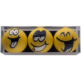 Golfballset Smiley